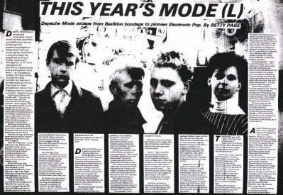 The day I met four terrified teenagers called Depeche Mode